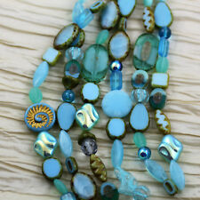 Fancy Table Cut and Pressed Picasso Mix Czech Glass Beads - pick your color!