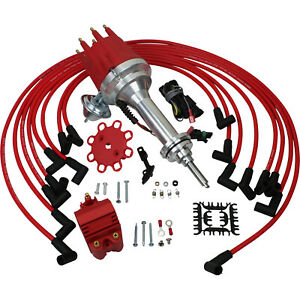 New Ignition Distributor & Plug Wire Set For Dodge & Chrysler Mopar 383-400 V8