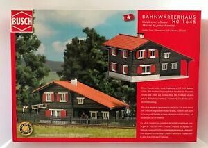 """Busch 1645 Ho Kit Swiss Bahnwaerterhaus """" Trin """" # New Original Packaging #"""