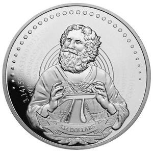 Salomon-Inseln 3,14 Dollar 2021 Kreiszahl Pi Premium-Anlagemünze 1 Oz Silber ST
