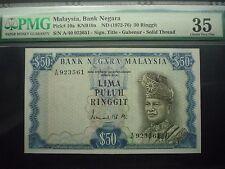 MALAYSIA 2ND RM50 A/40 923561 PMG35 Choice Very Fine