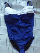 Heine Badeanzug Gr. 40 - 52 Cup D Bauch-weg-Futter NEU (195) blau weiß