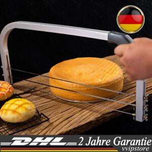 3-Drähte Kuchenschneider Tortensäge Tortenschneider Tortenbodenteiler Edelstahl