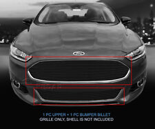 Black Billet Grille Grill Combo Insert For Ford Fusion 2013-2015