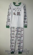 HANNA ANDERSSON Organic Long Johns Pajamas Disney Mickey Dashing Snow 140 10 NWT