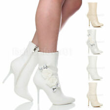 Women's Synthetic Leather Zip Ankle Boots