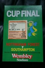 More details for nottingham forest v southampton 1979 league cup final programme and ticket