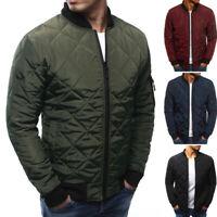 Stylish Men Winter Jacket Puffer Bubble Down Coat Bomber Padded Parka Plus Size