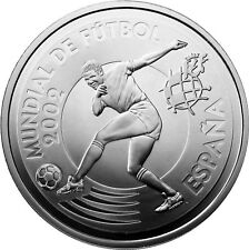 Spanien 10 Euro Silber 2002 PP FIFA Fussball WM: Japan und Korea - Stürmer