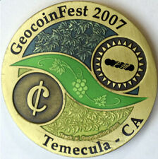 2007 GEOCOINFEST TEMECULA CA Geocoin - Used - Unactivated - Trackable
