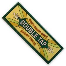 3D Rubber Double Tap Morale Airsoft Military Army Tactical Biker Patch Green NEW