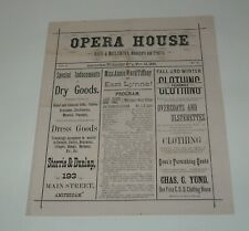 11/10 1880 Opera House Amsterdam Issue 1 Souvenir Program with Advertisements