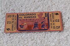 Vintage 1960 Kansas Jayhawks basketball ticket v. Colorado CU Buffs - rare!