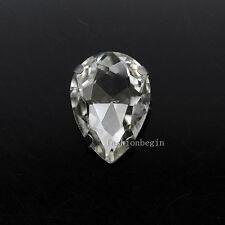 All-size Teardrop 24-colors Glass stone sew on crystal rhinestone silver setting