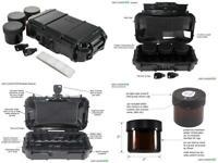 SAFE LOCKER 420-Jet Black. Smell Proof case for Herbs with UV Safe Jet Black