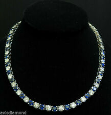 Blue Sapphire Fine Diamond Necklaces & Pendants