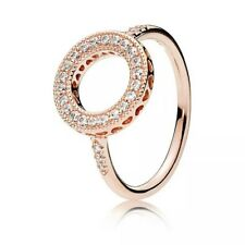 82313c00a GENUINE ROSE GOLD HALO HEARTS OF RING SIZE 60