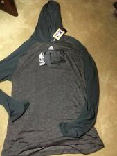 Adidas Fast Break Climate Ultimate Long Sleeve Hoodie Tee BROOKLYN NETS NWT