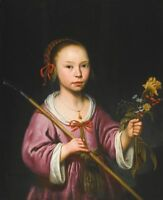 "perfect oil painting handpainted on canvas""a Young Girl as a Shepherdess""@6030"