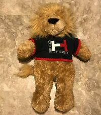 Vintage 2000 TOMMY HILFIGER Plush Lion Sweater Stuffed Animal Bean Bag Toy RARE!