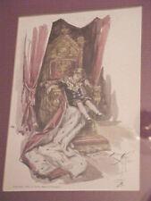 "Harrison Fisher ""Truxton King"" Illustration - Boy on Throne 1909 - Framed"