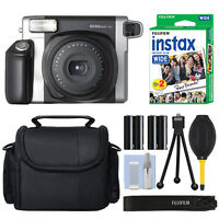 Fujifilm INSTAX Wide 300 Fuji Instant Camera Black + 20 Film Bundle