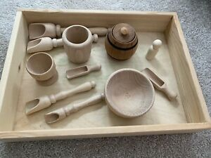 Montessori Sensory Tray Wooden