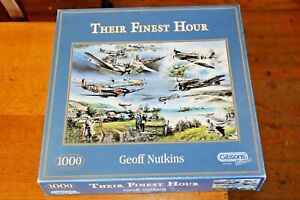 Gibsons 1000 Piece Jigsaw Puzzle Their Finest Hour G831 Spitfire Hurricane WW2