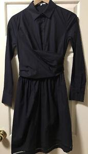Carven Dress Black/dark Navy Size 34