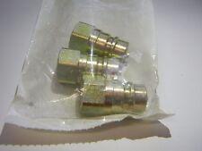 "Parker 3/8""NPT Steel Hydraulic Hose Valved Nipples 1 Lot of 3 60N6-6F"