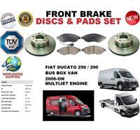 Para Fiat Ducato 250 Bus 2006- 280mm Discos Freno Delantero Set + Pastillas de