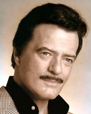 "ROBERT GOULET 1988 FRENCH CANADIAN ACTOR SINGER 8x10"" HAND COLOR TINTED PHOTO"