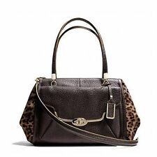 NWT Coach 25255 Madison Madeline Mixed Haircalf Leather East West Satchel  $1000