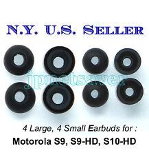 4L + 4S Motorola S9 S9-HD S10-HD replacement earbuds - Motorokr eargel eartips