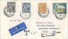 WINE - POSTAL HISTORY COVER to USA : CYPRUS 1957 - MORPHOU - TAXED on ARRIVAL !