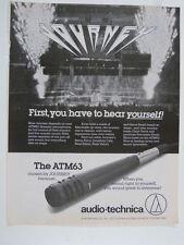 vintage magazine advert 1985 AUDIO TECHNICA atm63 / journey