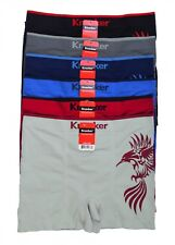 6 Mens Microfiber Modern Boxer Brief Underwear Seamless Compression One Size #57