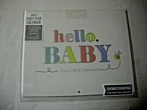 Baby's First Year Calendar By C.R. Gibson, Features Sticker Page, Brand New