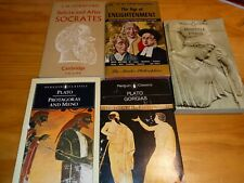 Lot Of Softcover Books On Philosophy age of enlightenment, Plato, Socrates.