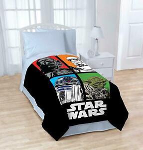 "Disney Star Wars Plush Twin Blanket Throw 62"" x 90"""