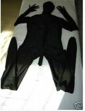 Full Body lycra spandex zentai Black costume suit WITH Penis S-XXL -Wholesale