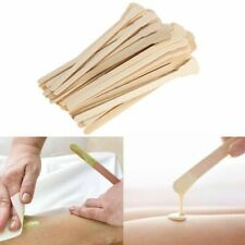50pcs Wooden Hair Removal Sticks For Waxing Applicator Disposable Spatula.