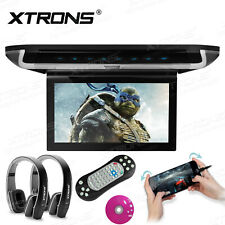 "10"" LCD TFT Roof Mount Ceiling Flip Down Cars Monitor TV DVD Player +Headphone"