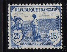 """FRANCE STAMP TIMBRE N°151 """" ORPHELINS GUERRE FEMME LABOUR 25c+15c """" NEUF x TB"""