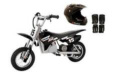 Razor Dirt Rocket 24V Electric Bike with Helmet, Elbow & Knee Pads, Black