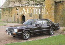 Datsun Nissan Laurel 2.4 1981-82 Original UK Sales Brochure S24.40m.C16.5.81