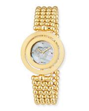 Versace V79060014 Eon Gold Tone 34mm Reversible Beze Women's Watch - New!