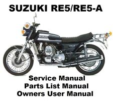 SUZUKI RE5 ROTARY - Owners Workshop Service Repair Parts List Manual PDF on CD-R