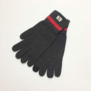 PUMA Unisex Active Knit Gloves Touch Fingertips Touchscreen Darkgrey Size M
