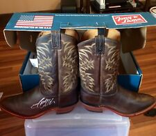 Brand new Tony Lama men's cowboy boots signed by Jason Aldean size 11.5